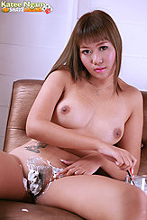 Katee Ngam Naked Shaving Her Pussy