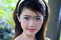 Sweet Teen Kumja Moon Strips And Shares Her Slim Body
