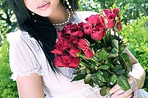 Breasty Beauty Hana Strips Transparent Dress With Bunch Of Roses