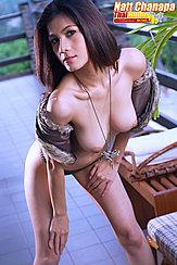 Leaning Forward Topless Big Breasts Wearing Panties