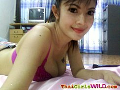 Mix Self Shot Picture Lying On Her Front On Bed In Purple Bra